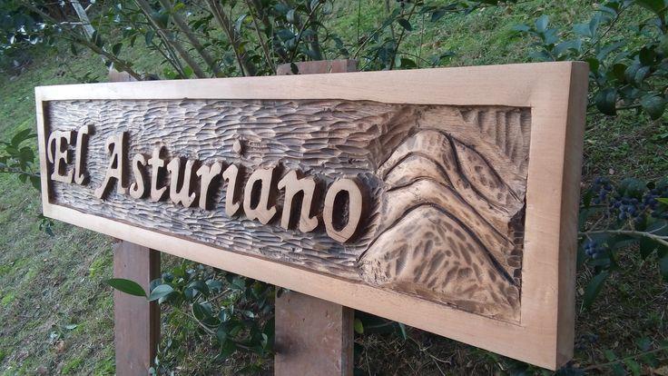 Carteles tallados por consultas al 099023410 La Chakana Arte en Madera