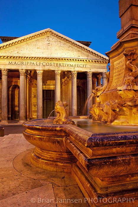 Pantheon Fountain, Rome, Italy