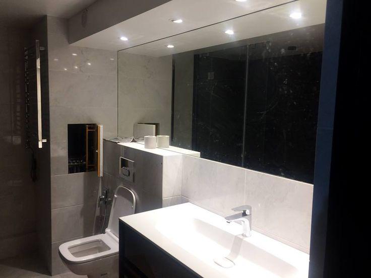 Данный проект выполнен силами нашей компании в августе 2017г. Зеркало в ванной комнате. В проекте использовалось зеркало серебро 4мм. Установка зеркала производилась с помощью крытого крепежа. Проект реализован в г. Москва, ул. Нижняя-Красносельская, 35.