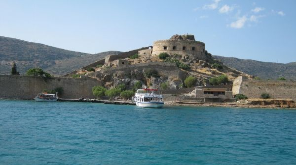 The famous island of Spinalonga in eastern Crete, a former leper colony