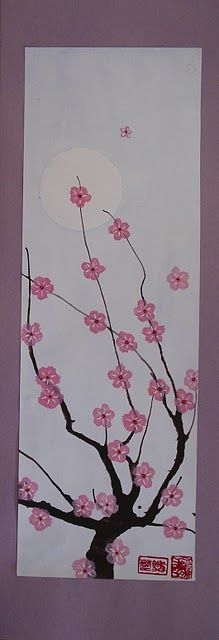 Love these cherry blossom paintings! Great for a guest room. Thanks for the DIY directions.