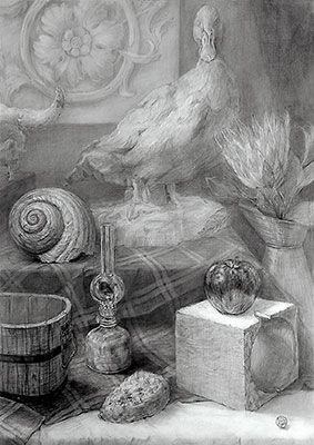 芸大・美大進学指導|杉井美術研究所[スギビ]|描写系作品:静物デッサン