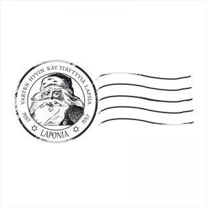 Stempel okrągły vintage -  List od Świętego
