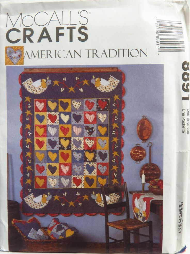 McCallu0027s 8891 American Tradition Quilt And Home Decor Accessories