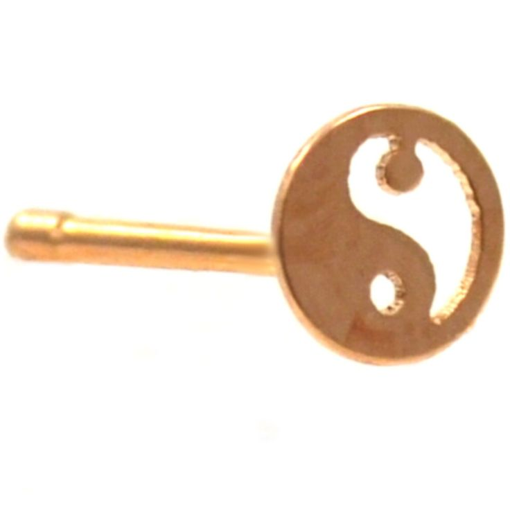 BodyDazz.com - Yin & Yang Top Steel Nose Ring Stud
