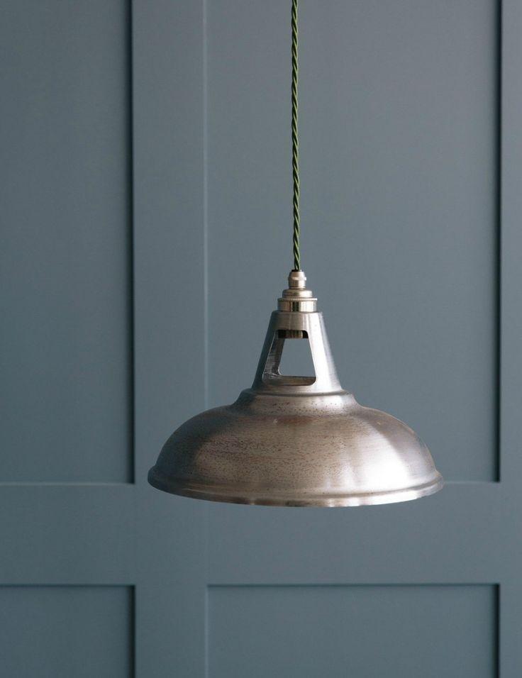 Spun Steel Pendant Light  - Raw