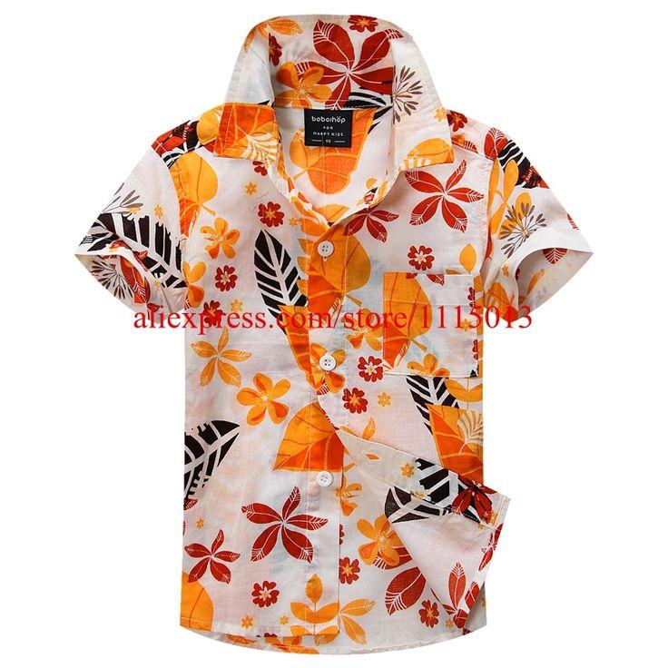 Новое прибытие цветочный рубашка гавайская рубашка гавайская рубашка для детей 1603