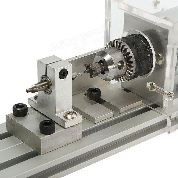 80W DC 24V Mini Τόρνος μηχανές επεξεργασίας ξύλου Χάντρες DIY Τόρνος Πρότυπο Σετ Πώληση - Banggood.com