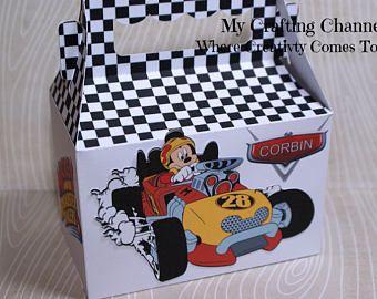 LG Mickey Mouse 2 Roadster Racer juegos de Mickey Mouse-Mickey Roadster Roadster Racer Racer-cumpleaños tratar cajas-aula fiesta cajas cumpleaños