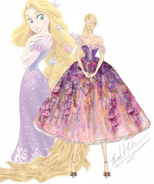 Un diseñador crea una colección de vestidos inspirados en las princesas de Disney
