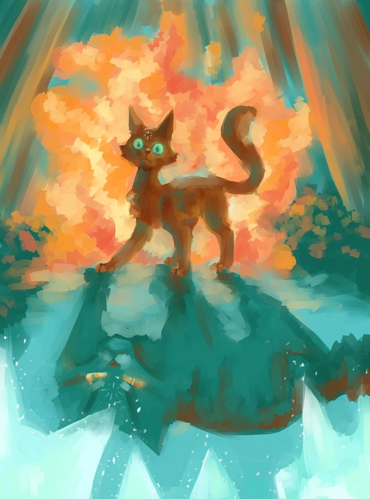 Warrior Cats Speedpaint- The Fire by ObnoxiousGiraffe.deviantart.com on @DeviantArt