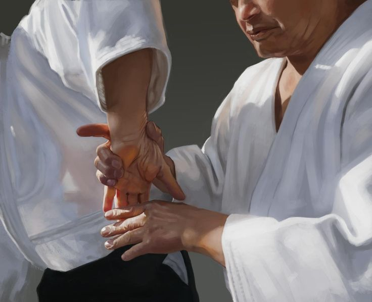 Aikido Hands II – Sankyo | Digital painting by Dimme McWood | www.monkeyboy.nl  #aikido #aikikai #sankyo #budo #martialart #digitalpainting