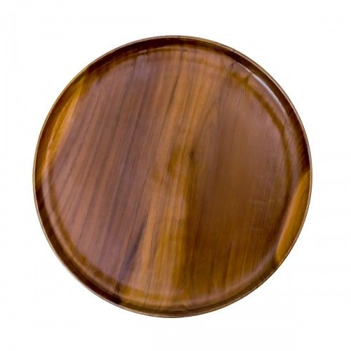 Selayar | nampan makan bulat bundar buah kayu jati dapur piring unik interior design furniture wood
