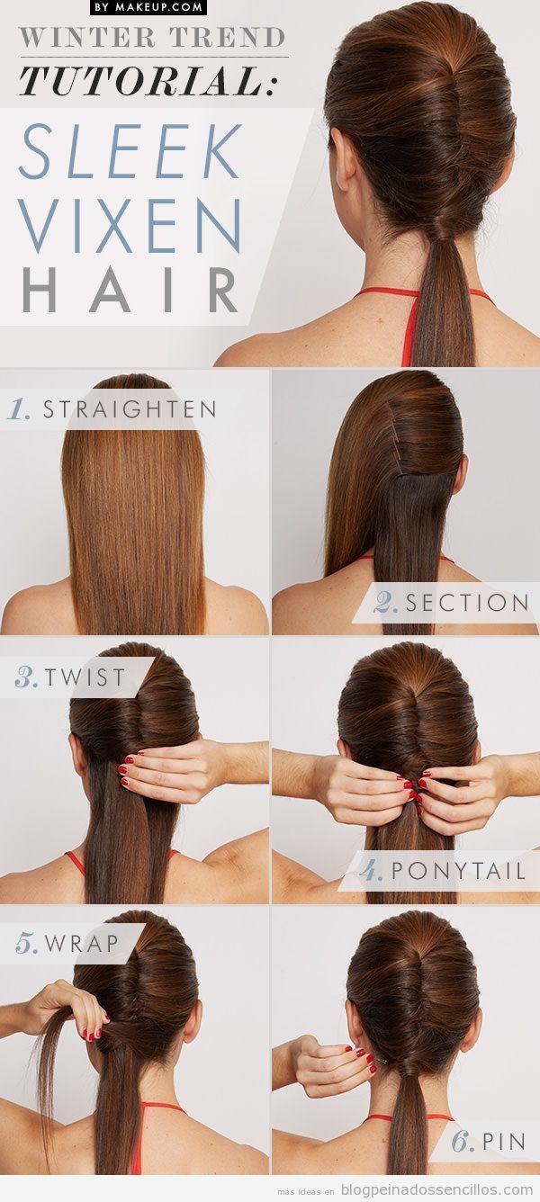 Tutorial paso a paso, peinado sencillo con coleta baja