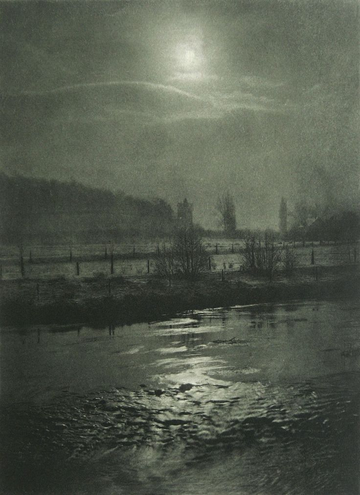 """Moonlit Night"" (1898) by Hugo Büchner"