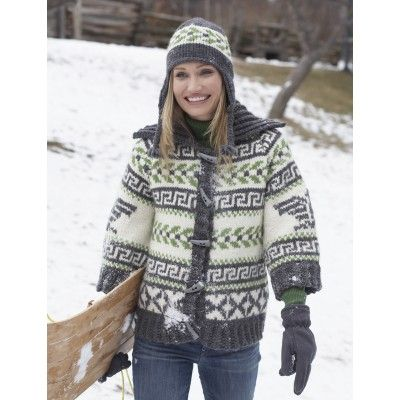 Navajo Cardigan and Hat - Knitting Patterns - Patterns | Yarnspirations