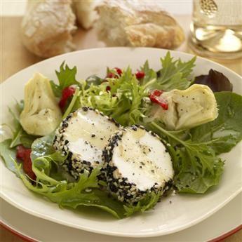 Goat cheese salad, Cheese salad and Goat cheese on Pinterest