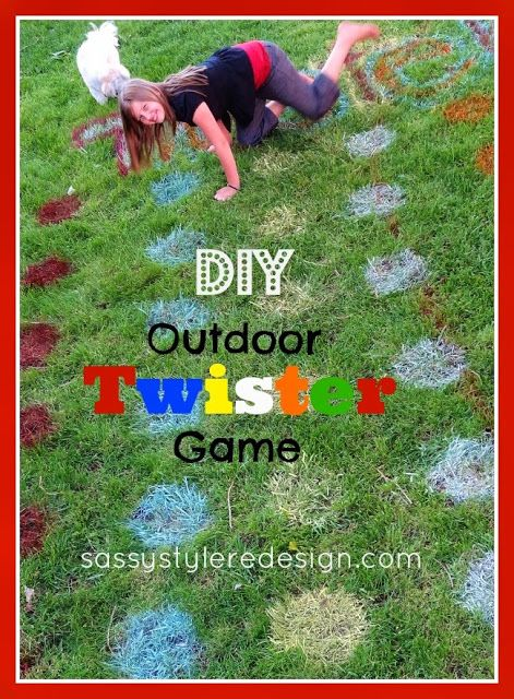 Bring the fun and games into your backyard and create your own Twister game on the lawn!