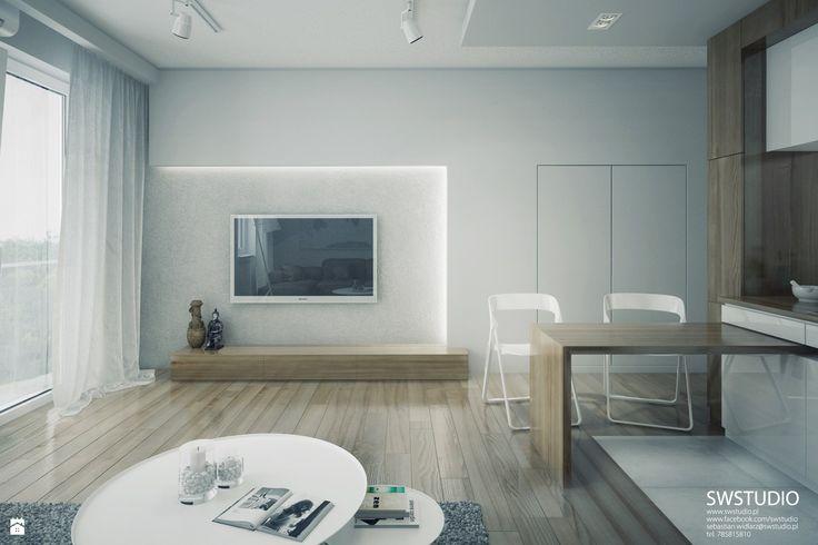 Salon styl Minimalistyczny - zdjęcie od SWSTUDIO - Salon - Styl Minimalistyczny - SWSTUDIO