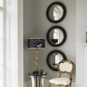 Pretty pothole mirrors - make such a statement don't you think!    via awelldressedhome.com