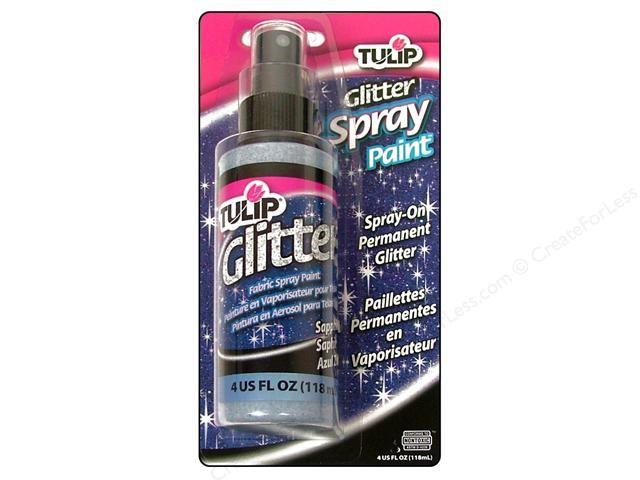 Tulip Fabric Spray Paint Ideas Part - 45: Tulip Fabric Spray Paint Glitter Sapphire 4oz