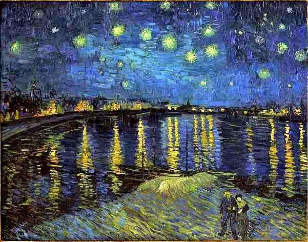 La Nuit Etoilée, le Rhône à Arles, 1888  Vincent van Gogh (Musée d'Orsay, Paris © Photo musée d'Orsay - Patrice Schmidt )