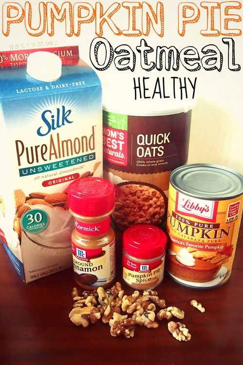 Healthy Pumpkin Pie Oatmeal