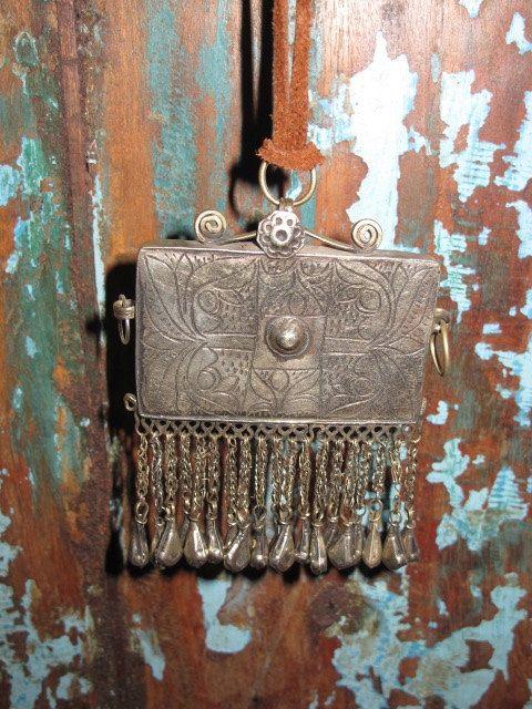 Vintage tribal Silver  Necklace