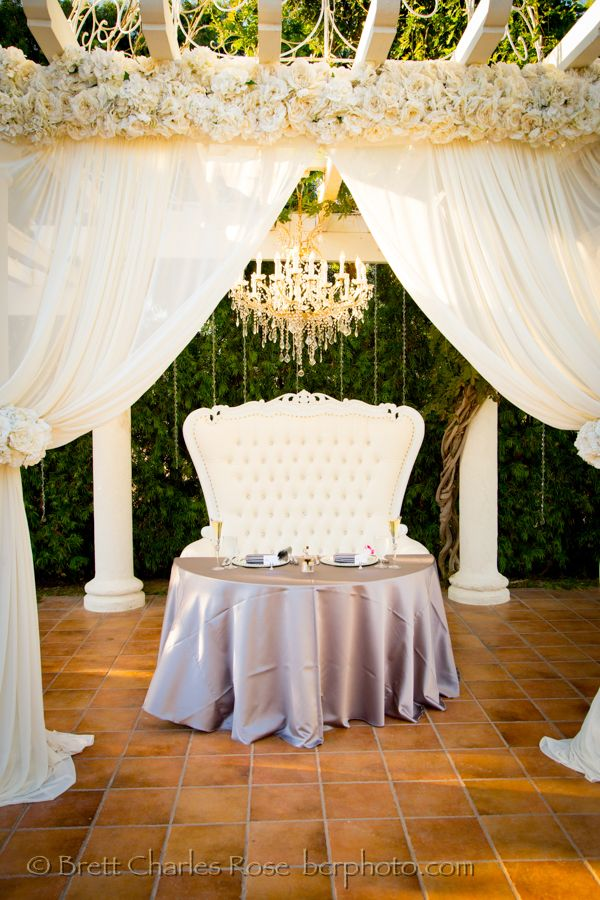 Bride And Groom Table For This Fairytale Wedding Reception Table