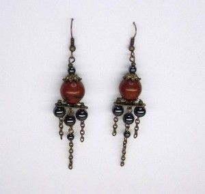 Brecciated Jasper Chandelier Earrings