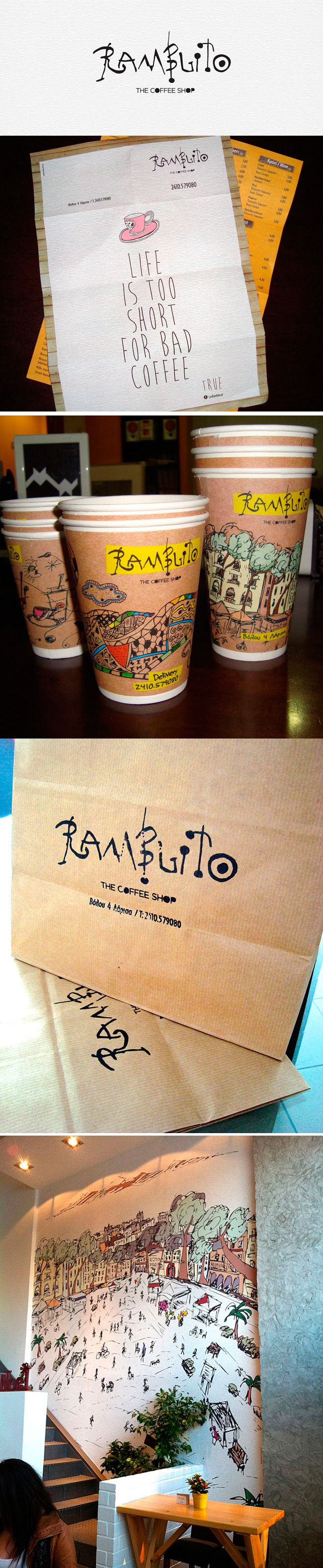 Ramblito coffee shop fun #identity #packaging PD