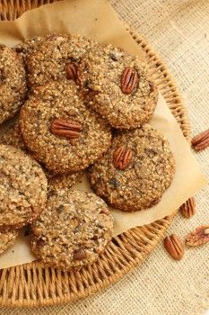 HEALTHY ONE-CUP COOKIES - just 1 cup of each ingredient -  these super healthy cookies are loaded with nutrition-dense good stuff, great as a snack or total breakfast replacement.