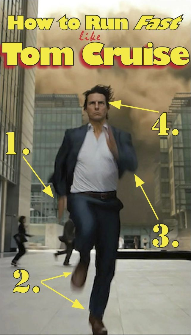 I'm not sure if Tom Cruise is the fastest celebrity alive, but he certainly looks like it, which, I guess, is half the battle. Now, that movie magic can be yours! In just four easy steps, you, too,…