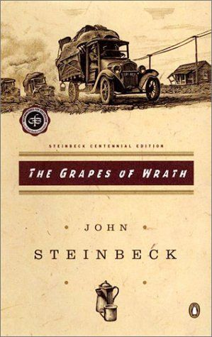 The Grapes of Wrath by John Steinbeck. Was cited when he was awarded the Nobel Prize.