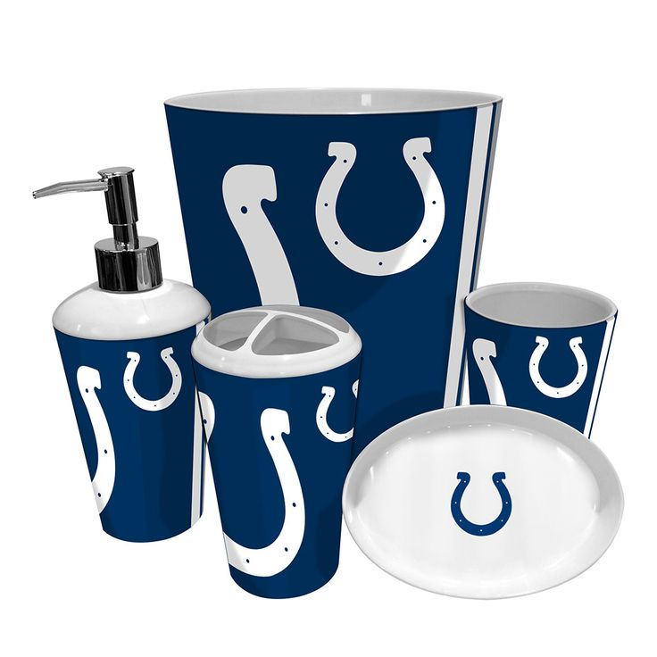 Indianapolis Colts NFL Complete Bathroom Accessories 5pc Set