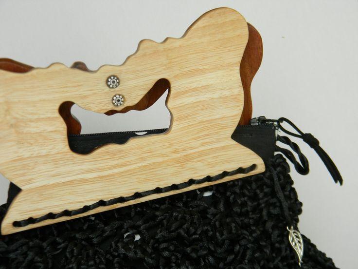 Black Papilio . purse, cluth, bolso, de AmanoPajaritas en Etsy
