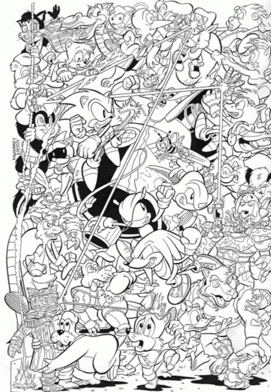 sonic x amy coloring pages - photo#32