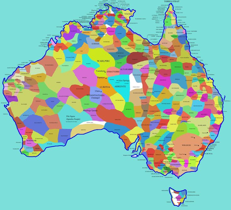 Map of aboriginal tribes in Australia (The Rabbits)