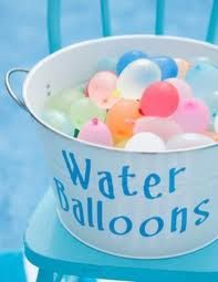 Who doesn't love a water ballon!  Just watch the little pieces with the little ones and don't forget to call Party Jumpers for the waterslide!  (941) 343-0370