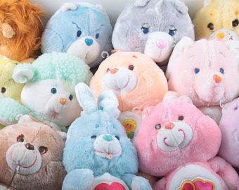 """Pick Your Own - Care Bears Vintage Kenner 13"""" Plush Stuffed Animals Cousins HUGE SELECTION - Funshine - Love A Lot - Tenderheart - Baby Hugs"""