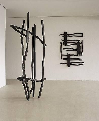 Robet Schad sculptures - steel bar