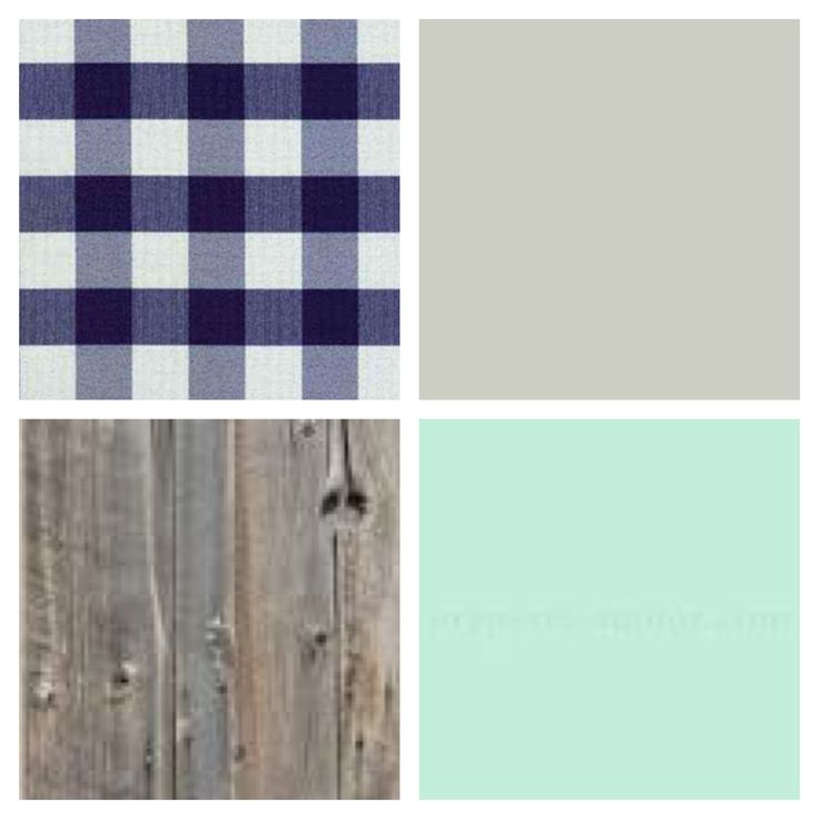 Country Rustic baby boys nursery color palette. Blue white