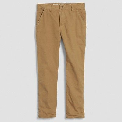 Dickies Men's Relaxed Straight Fit Canvas Flannel-Lined Carpenter Jean- Brown Duck 40x32
