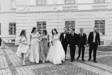 wedding photoshoot, bridesmaids, groomsmen, bridal