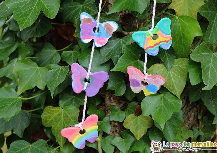 peinture mobile papillon en pâte autodurcissante