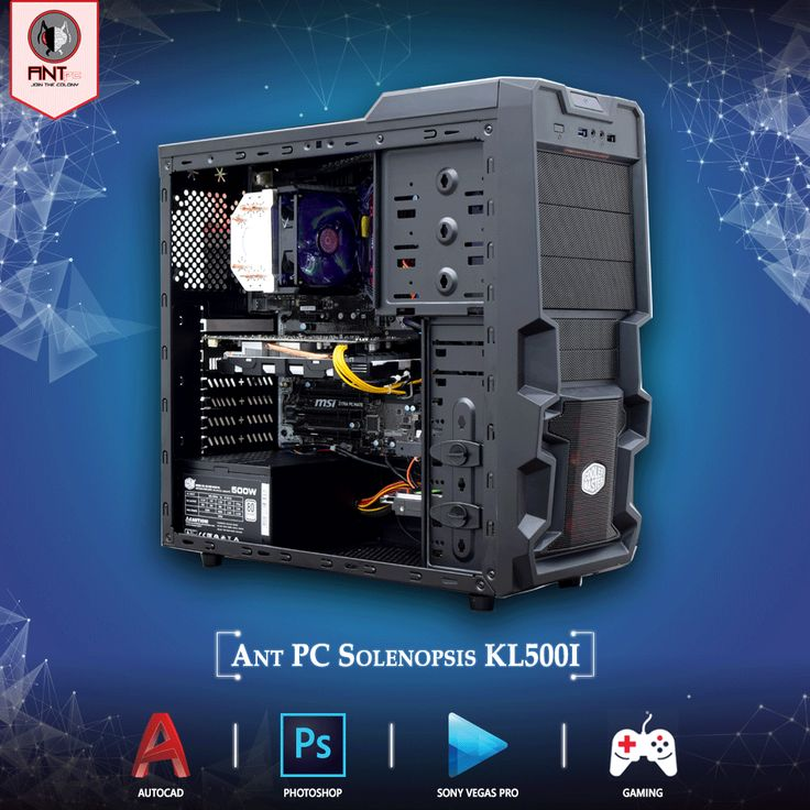 Let's turn on the Ant PC Solenopsis KL500I ! The Editing & Gaming Desktop Computer with air cooled 7th Generation Intel core i5 7500 up to 3.8 Ghz, Nvidia GTX 1050Ti 4GB and 120GB SSD. Ideal for Gaming, Auto CAD, Photoshop and Sony Vegas Pro. Get yours on: www.amazon.in/antpc