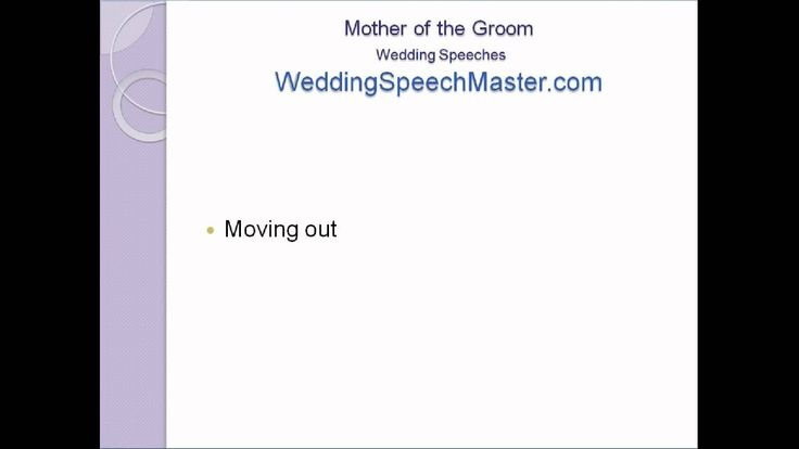 ‪Mother of the Groom Speech Tips  #WashingtonDCweddingplanner #SevenIvoryBrides #CulturalWeddings  Source: https://www.youtube.com/watch?v=zZRMqxOStlU
