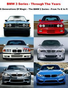 Experience The BMW 3 Series Through The Years - 6 Generations Of Total Magic - From To E to F: Visit our website to learn about the rich history of the BMW 3 Series compact executive luxury sports cars. http://www.ruelspot.com/bmw/bmw-3-series-the-history