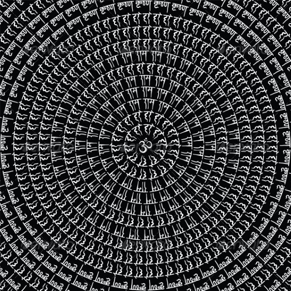 Indian Mandala. ...  Krishna, abstract, asia, black, calligraphic, circle, culture, east, god, graphic, hare, hinduism, illustration, india, line, lotus, luck, mandala, mind, om, ornamental, print, sanskrit, stock, symbol, traditional, travel, vector, wallpaper, yoga