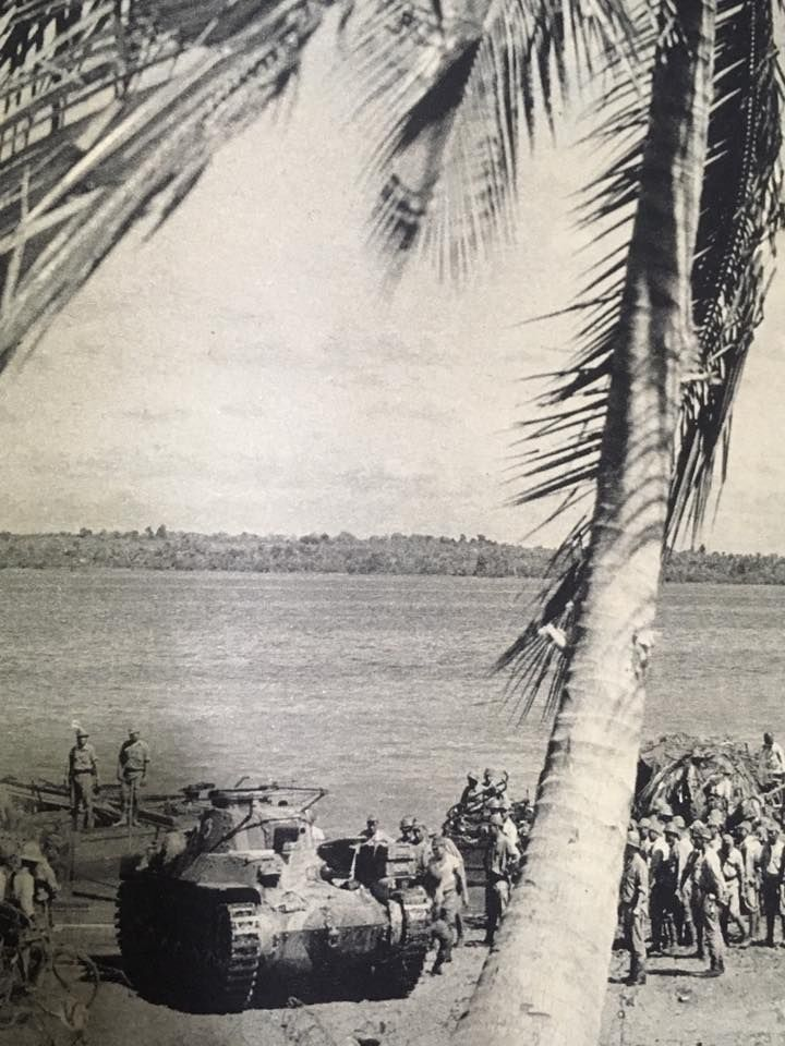Type 97 Chi Ha Main Battle Tank Landed In Singapore Beach